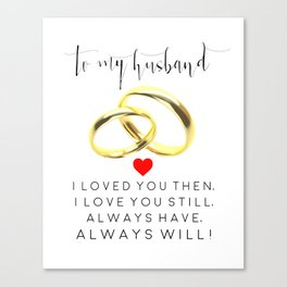 husband gift,husband and wife,love art,couples gift,wedding,anniversary,rings for men,romantic art Canvas Print