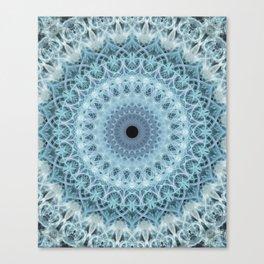 Mandala in cold winter tones Canvas Print