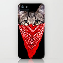 Gangster Cat iPhone Case