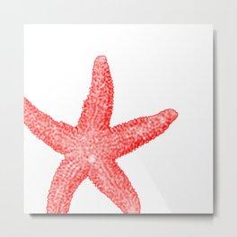 Coral Starfish Metal Print