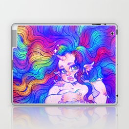 Rainbow Mermicorn (Bright Version) Laptop & iPad Skin