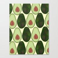 avocado Canvas Prints featuring Avocado by SarahBoltonIllustration