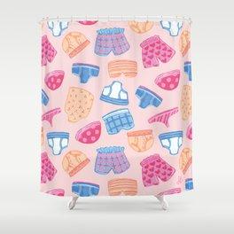 Underwear Pattern Shower Curtain