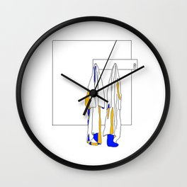 laat maar hangen Wall Clock