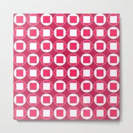 Strawberry Contemporary Bead Pattern Metal Print