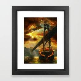 The Dragon of the St Johns Bridge Framed Art Print