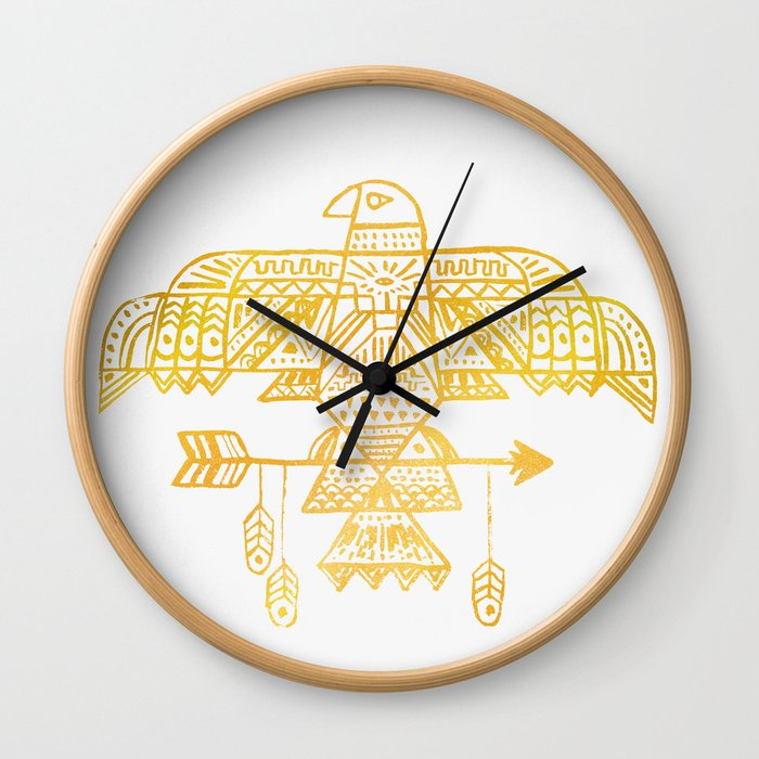 Hawk Eye Wall Clock