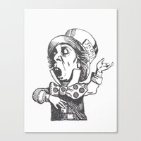 mad hatter Canvas Prints featuring Mad Hatter by Emma Porter