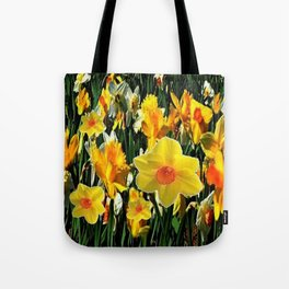 GOLDEN ORANGE YELLOW SPRING DAFFODILS Tote Bag