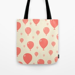 Red Balloons Tote Bag