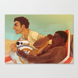 speeder ride with poe, finn and bb8 Canvas Print