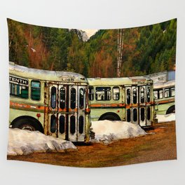 Bus Cemetery Wall Tapestry