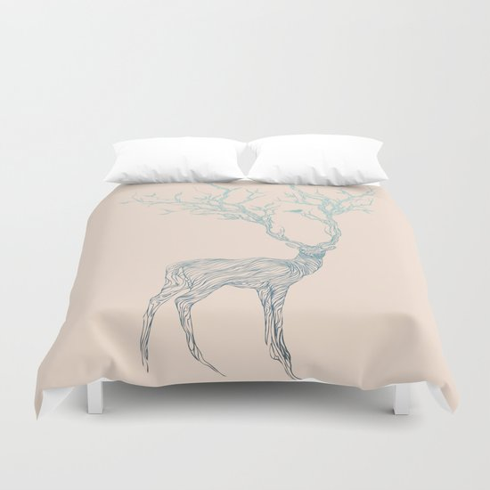Blue Deer Duvet Cover