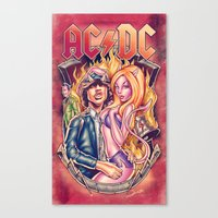 acdc Canvas Prints featuring Highway to ACDC by Renato Cunha