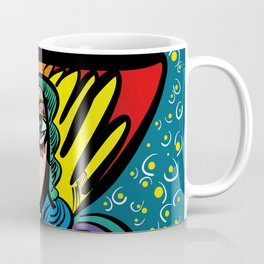 Tarot Girl with Hat French Art Cubism Coffee Mug