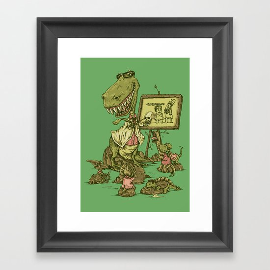 Let's study the Humanosaurs Framed Art Print