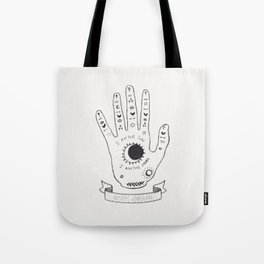 Palmistry Hand Tote Bag