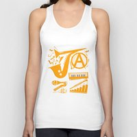 jazz Tank Tops featuring Jazz by Veronika K