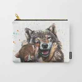 Wolf - Father and Son Carry-All Pouch