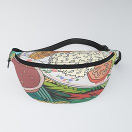 Tropical Dominican Lunch Platter Fanny Pack