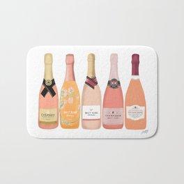 Rose Champagne Bottles Bath Mat