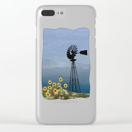 Wind Pump American Style Windmill Clear iPhone Case