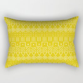 Mudcloth Style 1 in Mustard Yellow Rectangular Pillow
