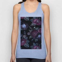 Fantasy Night Rose Red Unisex Tank Top