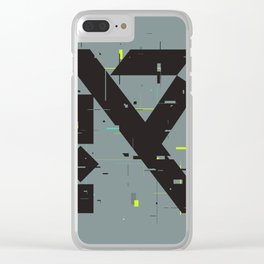 R Glitch— Clear iPhone Case
