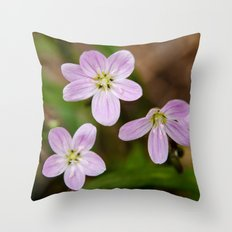 Trio of pink Throw Pillow