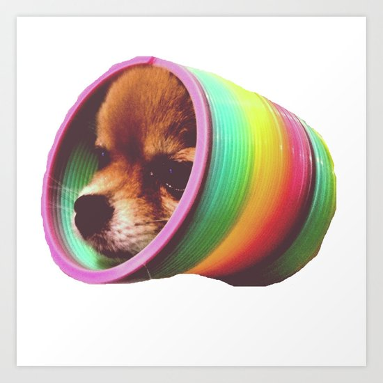 Slinky Dog! Art Print