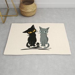 Black and gray Rug