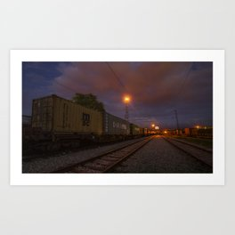 Night train Art Print