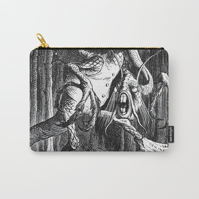 Jabberwocky Illustration from Alice in Wonderland Carry-All Pouch