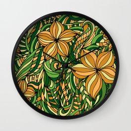 Floral ornament. Wall Clock