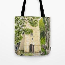 St Illtyd's Church, Oxwych Bay (Wales) Tote Bag