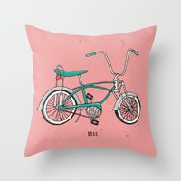 boss Throw Pillows featuring Boss. by shoooes