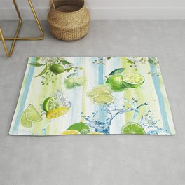 Tropical Lime Splash Rug