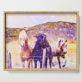 Southwest Horse Ranch Horses Serving Tray