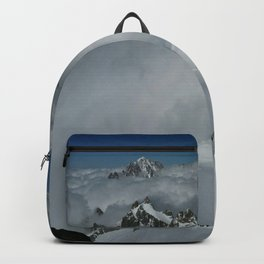 From Aiguille du Midi in the French Alps /Mont Blanc Backpack