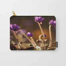 Hepaticas in The Glare Of The Sun #decor #society6 #buyart Carry-All Pouch