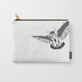 Owl of the Pheonix White Carry-All Pouch