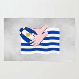 Uruguay Rugby Flag Rug