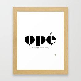 ope black Framed Art Print