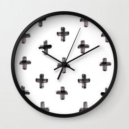 plus sign pattern Wall Clock
