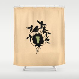 Vermont - State Papercut Print Shower Curtain