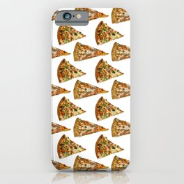 Spicy Meat Pizza Slice Polka Dot Pattern iPhone Case