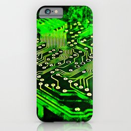 platine board conductor tracks splatter watercolor iPhone Case