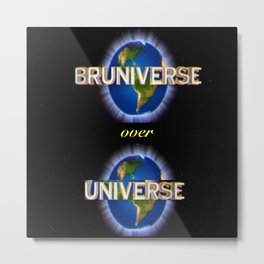 Bruniverse over Universe Metal Print