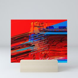 Cells Interlinked - Bold Red and Blue Mini Art Print